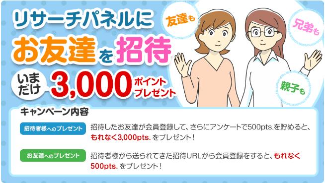 リサーチパネル友達紹介1