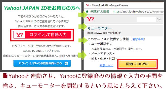 キューモニター登録5(Yahoo)