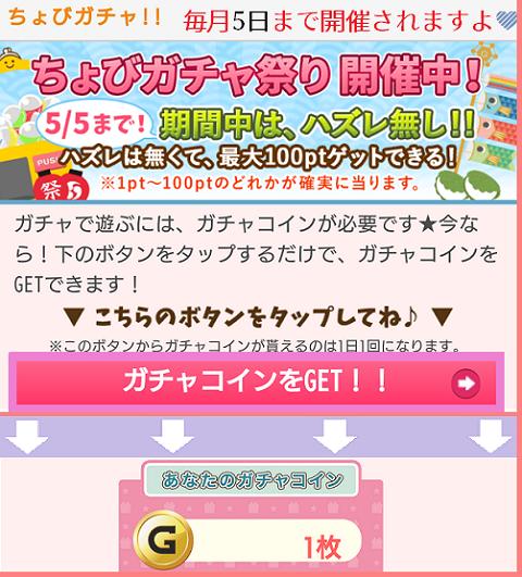 ちょびリッチガチャ祭3