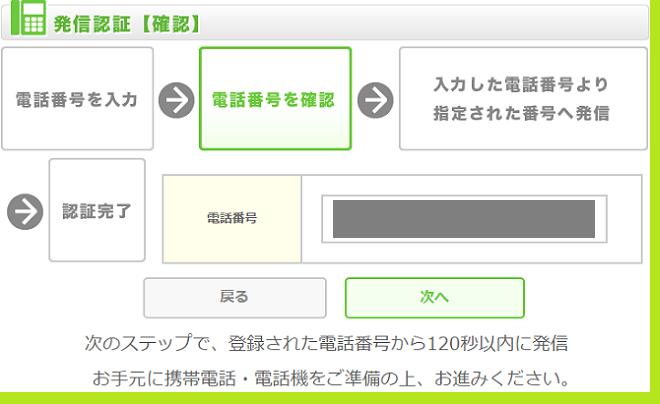 ちょびリッチポイント交換電話認証3