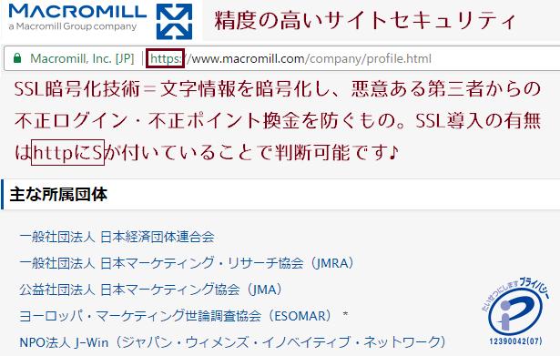 マクロミルのまとめ~サイトセキュリティ