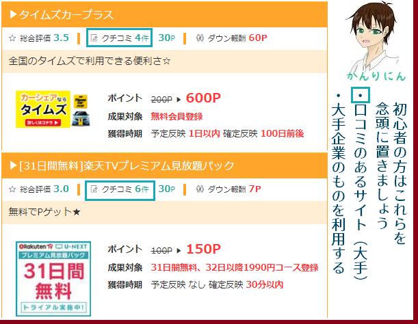 ポイントサイトの入門ガイド~無料会員登録関係