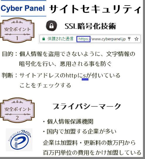 サイバーパネルのサイトセキュリティ