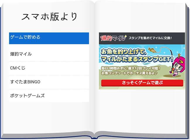 ゲームコンテンツのラインナップ(SPモード)