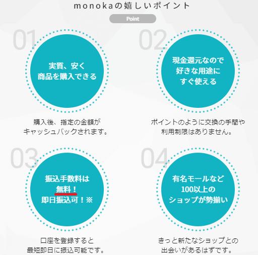 monoka(モノカ)の4つのメリット